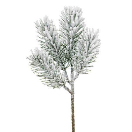 Διακοσμητικό χιονισμένο κλαδί από έλατο 24cm