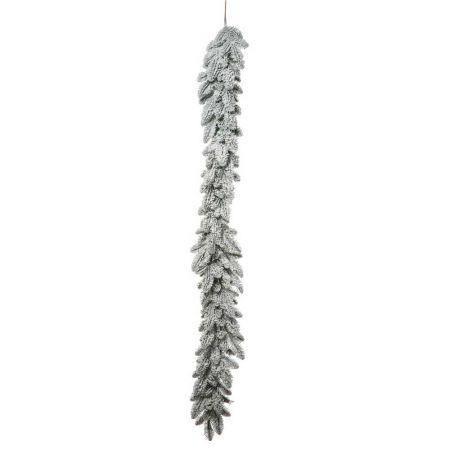 Διακοσμητική Χριστουγεννιάτικη γιρλάντα χιονισμένη 180x35cm