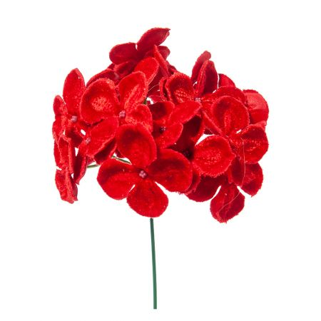 Χριστουγεννιάτικο λουλούδι Ορτανσία deluxe Κόκκινο 19cm