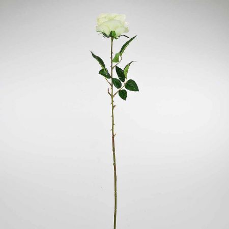 Διακοσμητικό συνθετικό τριαντάφυλλο Λευκό 78cm