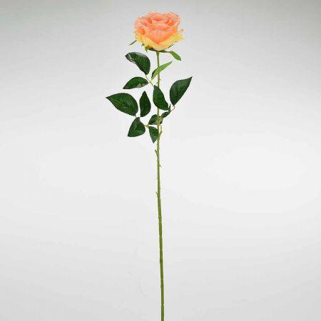 Διακοσμητικό συνθετικό τριαντάφυλλο Σομόν 78cm