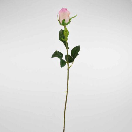 Διακοσμητικό συνθετικό τριαντάφυλλο μπουμπούκι Ροζ 68cm