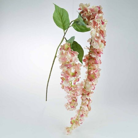 Ανοιξιάτικο ανθισμένο Κλαδί Ορτανσία ροζ 155cm