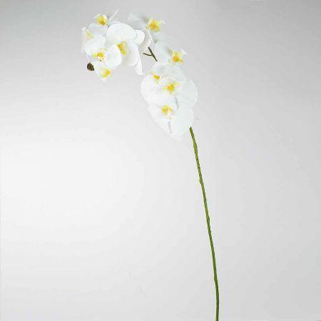 Διακοσμητική Ορχιδέα Λευκή (Natural Touch) 97cm