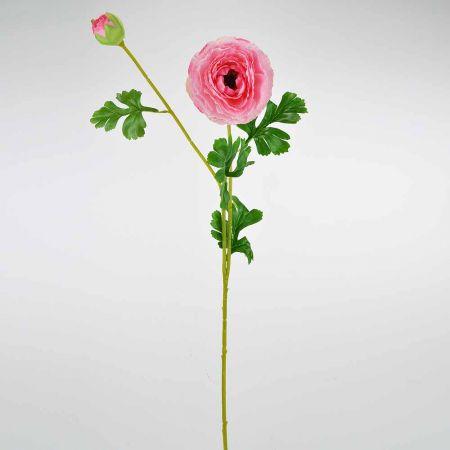 Διακοσμητικό συνθετικό λουλούδι Νεραγκούλα Ροζ 75cm