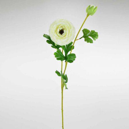 Διακοσμητικό συνθετικό λουλούδι Νεραγκούλα Κρεμ 75cm
