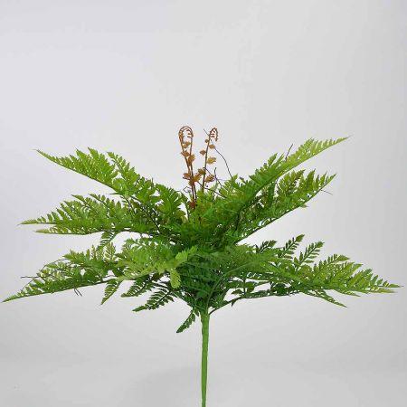 Τεχνητή δέσμη - μπουκέτο με φύλλα φτέρης 40cm