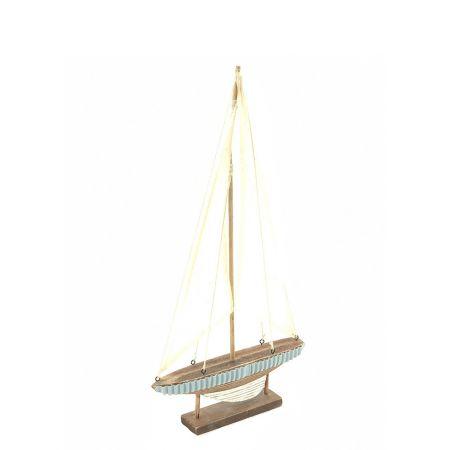 Διακοσμητικό ξύλινο καραβάκι 44x24,5x4cm