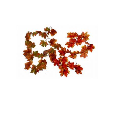 Διακοσμητική γιρλάντα με φύλλα Σφενδάμου Κίτρινο - Πορτοκαλί