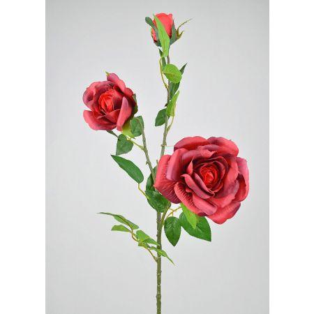 Διακοσμητικό κλαδί με κόκκινα τριαντάφυλλα 88cm