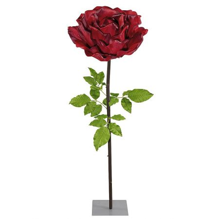XXL Διακοσμητικό Κόκκινο τριαντάφυλλο με μίσχο 165cm