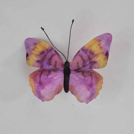 Διακοσμητική πεταλούδα Μωβ 30x27x3cm
