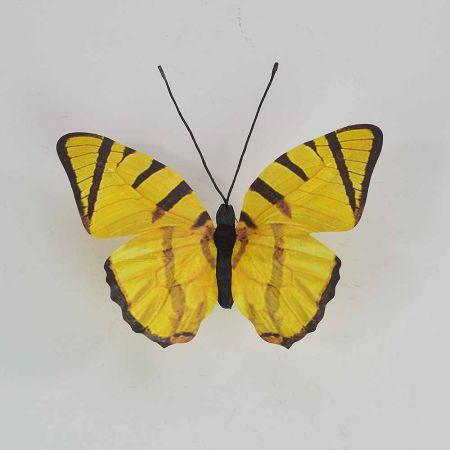 Διακοσμητική πεταλούδα Κίτρινη 30x27x3cm