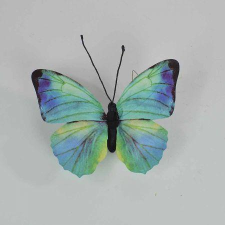 Διακοσμητική πεταλούδα Μπλέ 30x27x3cm