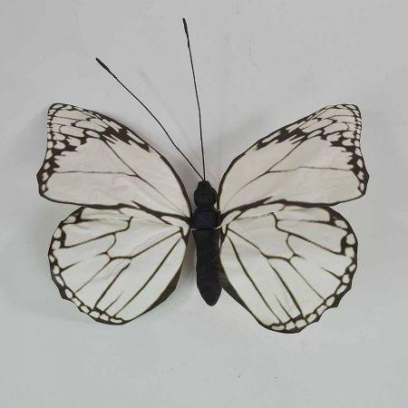 Διακοσμητική πεταλούδα Λευκή 50x47x5cm
