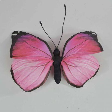 Διακοσμητική πεταλούδα Ρόζ 50x47x5cm