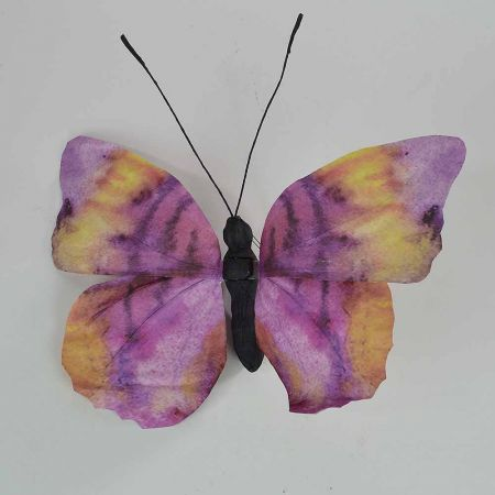 Διακοσμητική πεταλούδα Μωβ 50x47x5cm