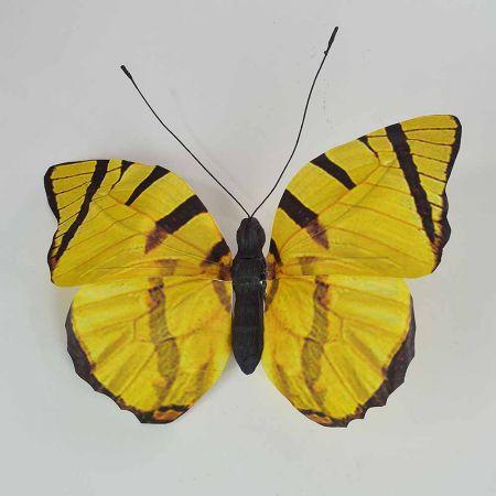 Διακοσμητική πεταλούδα Κίτρινη 50x47x5cm
