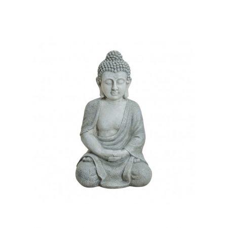 Διακοσμητικό αγαλματίδιο Βούδας , Γκρι 47cm
