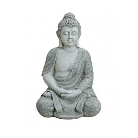 Διακοσμητικό αγαλματίδιο Βούδας , Γκρι 62cm