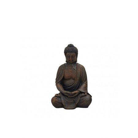 Διακοσμητικό αγαλματίδιο Βούδας , Καφέ 30cm