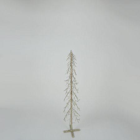 Διακοσμητικό επιδαπέδιο μεταλλικό δεντράκι Σαμπανί 20x100cm