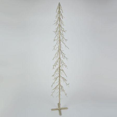 Διακοσμητικό επιδαπέδιο μεταλλικό δεντράκι Σαμπανί 25x150cm