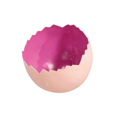 Σπασμένο πασχαλινό αυγό Ροζ 22x18cm