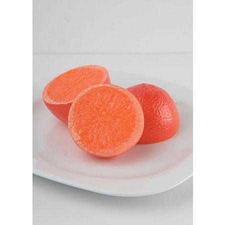 Σετ 3τχ Διακοσμητικά κομμάτια πορτοκαλιού μισά απομίμηση 7cm