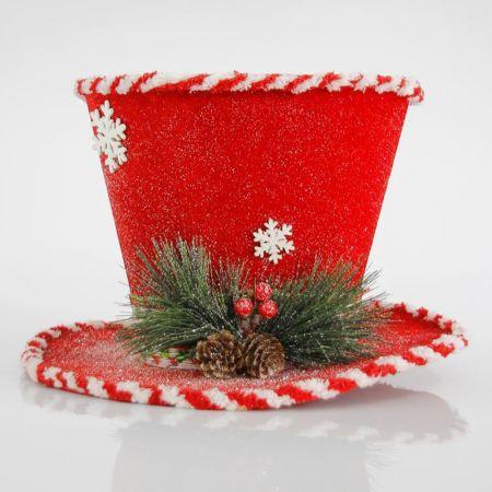 Χριστουγεννιάτικο στολίδι καπέλο κόκκινο 30cm