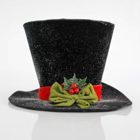 Χριστουγεννιάτικο στολίδι καπέλο Μαύρο 30cm