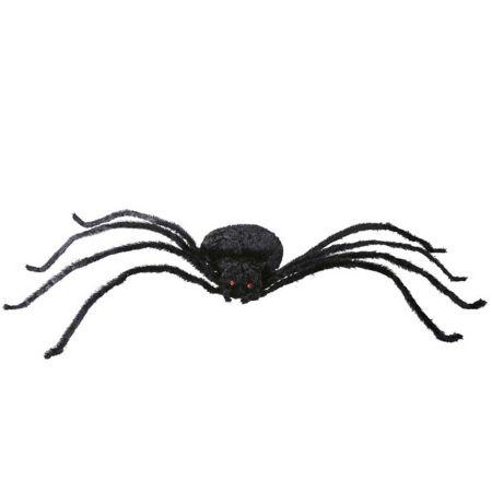 XXL Διακοσμητική αράχνη με εύκαμπτα πόδια Μαύρη 220cm