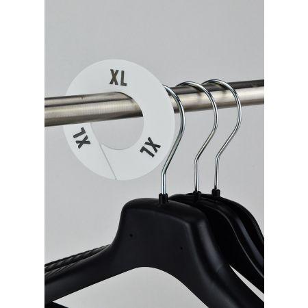 XL Σετ 10τμχ Διαχωριστικά Μεγεθών Στρογγυλά Λευκό- Μαύρο