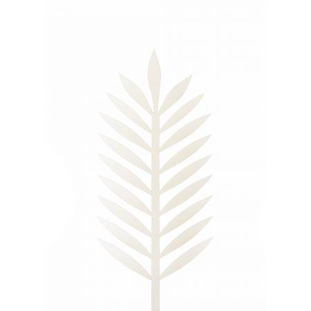 Φύλλο Φοίνικα PVC Λευκό 43x18cm
