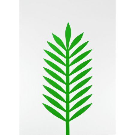 Φύλλο Φοίνικα PVC Πράσινο 43x18cm