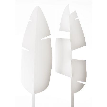 Σετ 2τχ Φύλλο Μπανανιάς PVC Λευκό 67x20cm