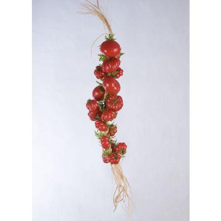 Διακοσμητική πλεξούδα με ντομάτες 50cm