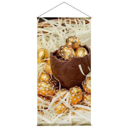 Διακοσμητική αφίσα με σοκολατένια αυγά 100x200cm