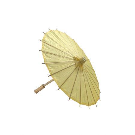 Διακοσμητική Χάρτινη ομπρέλα Κίτρινη 40cm