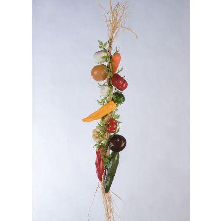Διακοσμητική πλεξούδα με διάφορα λαχανικά 50cm