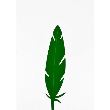 Διακοσμητικό φτερό PVC Πράσινο σκούρο 42x10cm