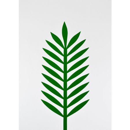 Φύλλο Φοίνικα PVC Πράσινο σκούρο 43x18cm