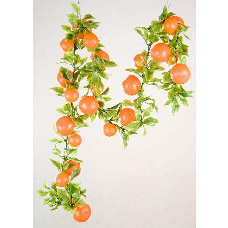 Διακοσμητική γιρλάντα με πορτοκάλια 200cm