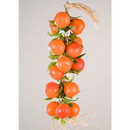 Διακοσμητική πλεξούδα με πορτοκάλια 50cm