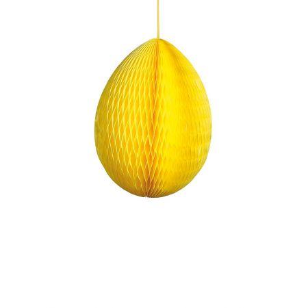 Διακοσμητικό Πασχαλινό αυγό κυψελωτό Κίτρινο 30cm