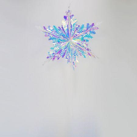 Χριστουγεννιάτικη ιριδίζουσα νιφάδα 40cm