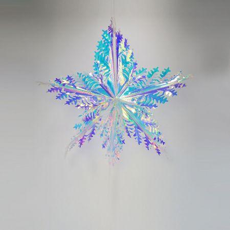 Χριστουγεννιάτικη ιριδίζουσα νιφάδα 60cm