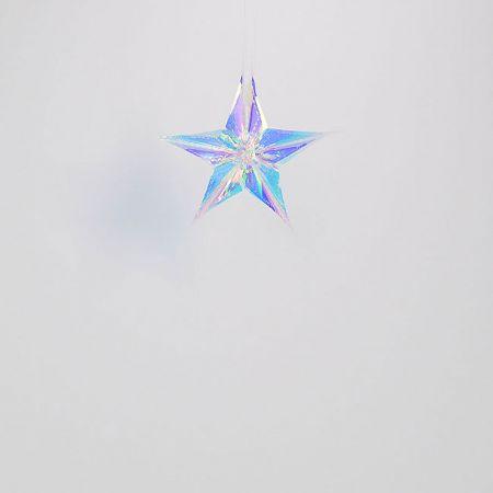 Χριστουγεννιάτικο ιριδίζον αστέρι 15cm