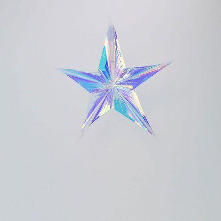 Χριστουγεννιάτικο ιριδίζον αστέρι 30cm