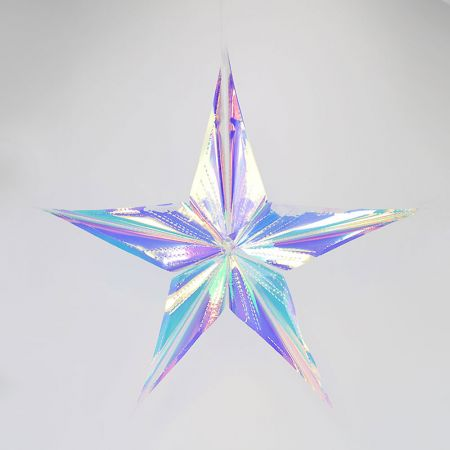 Χριστουγεννιάτικο ιριδίζον αστέρι 60cm